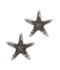 TEXTURED STARFISH STUD EARRING