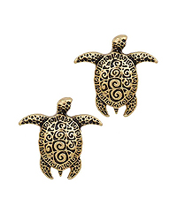 TEXTURED TURTLE STUD EARRING