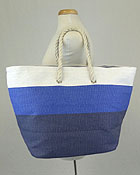 LARGE SIZE THREE TONES BEACH TOTE BAG
