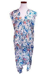 PAISLEY OPEN LONG BEACH CARDIGAN COVER UP