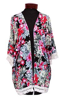 TROPICAL GARDEN OPEN BEACH PONCHO COVER UP