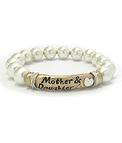 MOTHER AND DAUGHTER STRETCH PEARL BRACELET