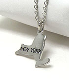 PREMIER ELECTRO PLATING STATE OF NEW YORK NECKLACE