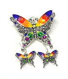 BUTTERFLY THEME MAGNETIC PENDANT SET