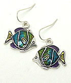 MULTI COLOR TROPICAL FISH HOOK EARRINGS