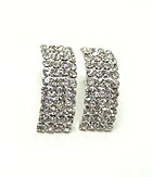 FOUR ROWS RHINESTONE EARRINGS