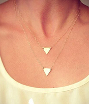 ETSY STYLE DOUBLE TRIANGLE NECKLACE