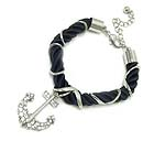 CRYSTAL DECO NAUTICAL ANCHOR AND ROPE BAND BRACELET