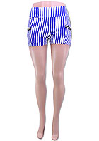 ZIPPER POCKET AND STRIPE ELASTIC SHORTS