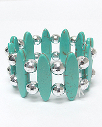 TURQUOISE DOUIBLE STRETCH BRACELET