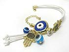 HAMSA AND EVIL EYE DANGLE BRACELET