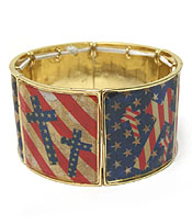 AMERICAN FLAG THEME WIDE BARCELET