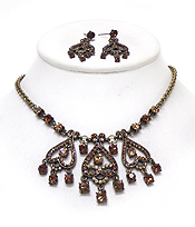 LUXURY AUSTRIAN CRYSTAL NECKLACE EARRING SET