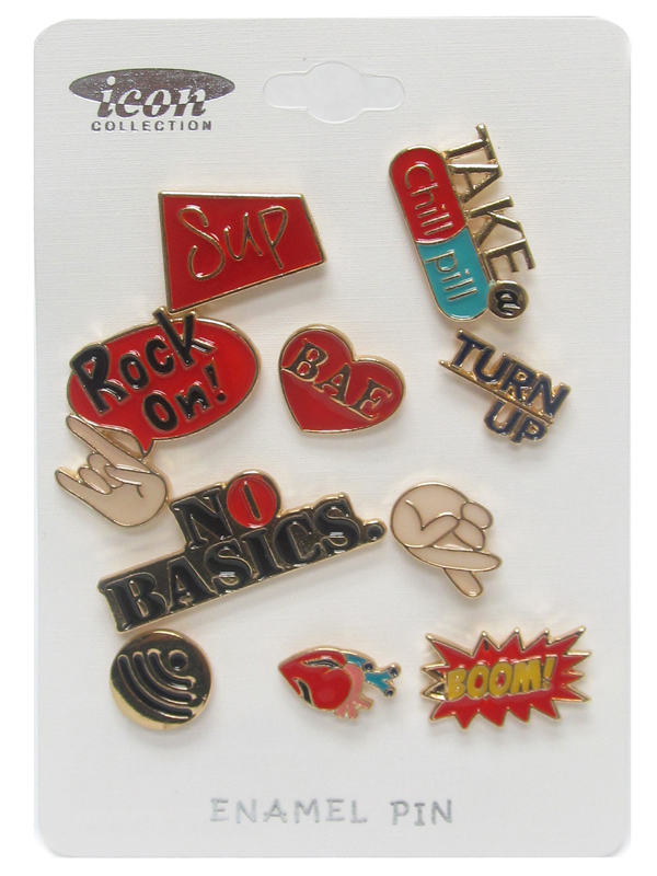 URBAN DICTIONARY THEME EPOXY TACK PIN SET