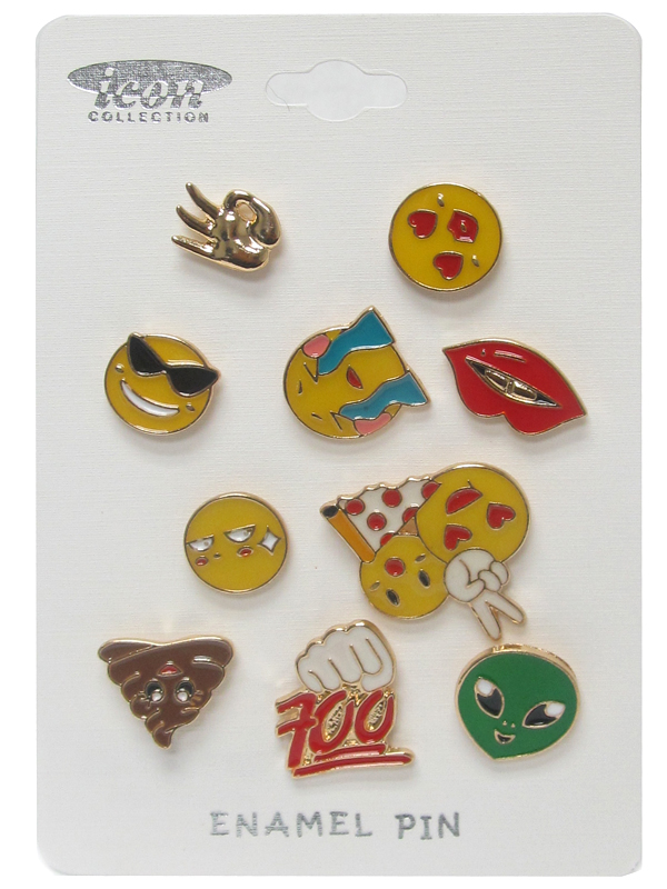 EMOJI THEME EPOXY TACK PIN SET