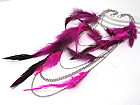 14 INCH SUPER LONG FEATHER DECO MULTI HANGING CHAIN EARLACE?