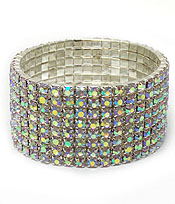 EIGHT LAYERS OF STRETCH RHINESTONES BRACELET