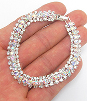 DOUBLE LAYER RHINESTONE BRACELET