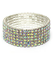 SIX LINE OF STRETCH RHINESTONES BRACELET