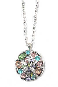 CRYSTAL SAND DOLLAR PENDANT NECKLACE