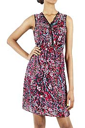 ANIMAL PATTERN TANK DRESS