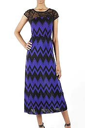 CHEVRON PATTRN LACE DRESS