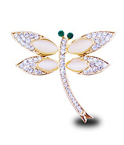 CRYSTAL DRAGONFLY BROOCH OR PIN