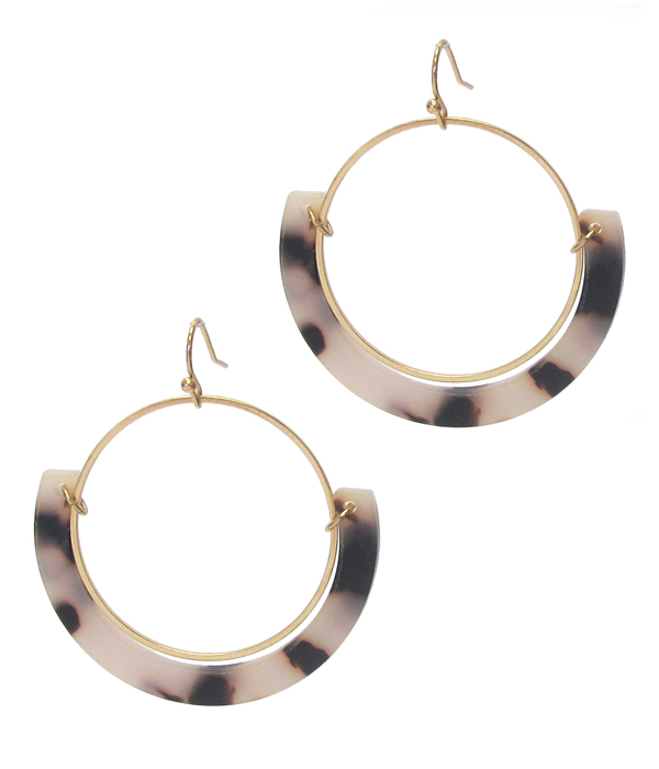 ORGANIC CELLULOSE HOOP EARRING