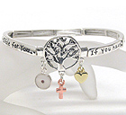 LIFE OF TREE MESSAGE STRETCH BRACELET - IF YOU HAVE FAITH AS SMALL AS A MUSTARD SEED NOTHING WILL BE IMPOSSIBLE FOR YOU