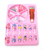 ASSORTED GLUE ON NAILS AND CRYSTAL PACK