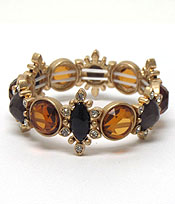 BURN SILVER CRYSTALS AND STONES BRACELT