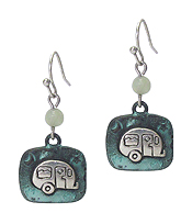 HAPPY CAMPER THEME TEXTURED EARRING
