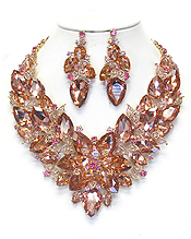 LUXURY CLASS VICTORIAN STYLE AND AUSTRALIAN CRYSTAL PARTY NECKLACE SET