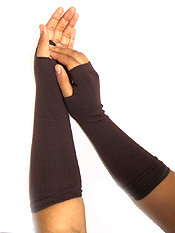 LONG SLEEVE FINGERLESS GLOVES OR ARM WARMER SET