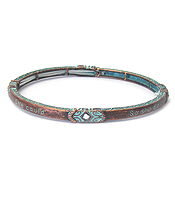 INSPIRATION MESSAGE PATINA STRETCH BRACELET - SHE BELIEVED SHE COULD SO SHE DID