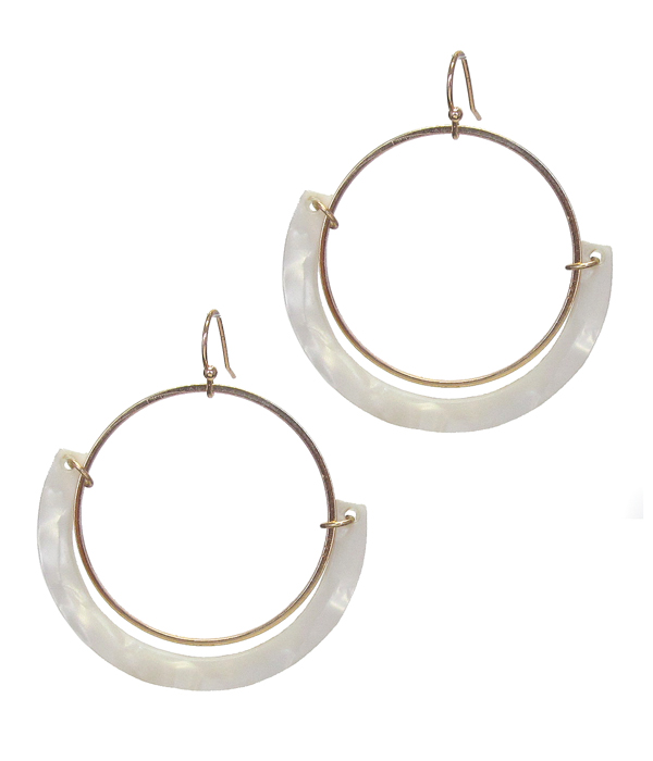 ORGANIC CELLULOSE HOOP DROP EARRING