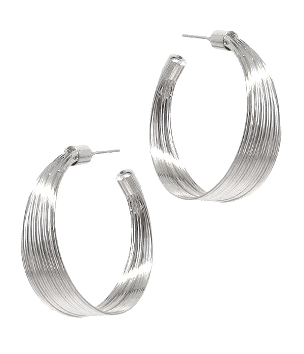 METAL WIRE HOOP EARRING