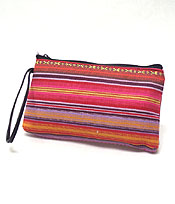 TRIBAL PRINT SMALL ZIPPER POUCH
