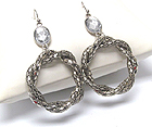 TUBE CHAIN LINK HOOP DROP EARRING