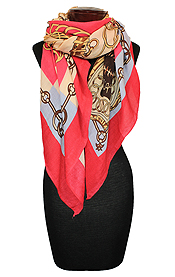 CHAIN AND ARMOR SQUARE SCARF