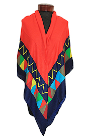 GEOMETRIC BORDER SQUARE SCARF