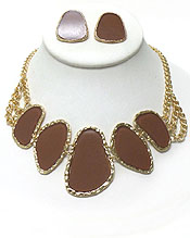 NATURAL SHAPE EPOXY LINK NECKLACE SET