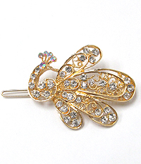 CRYSTAL PEACOCK HAIR PIN