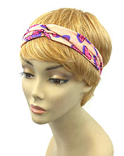 BOW PRINT KNOTTED HEADBAND