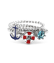 SEALIFE THEME 3 PIECE RING SET - ANCHOR