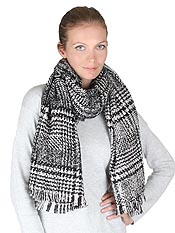 PLAID PATTERN THICK MUFFLER OR BLANKET SCARF