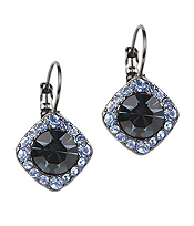 CRYSTAL AND FACET GLASS CENTER EARRING