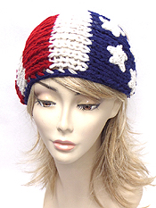 AMERICAN FLAG KNITTED HEADWRAP