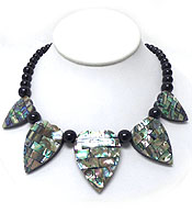 HANDMADE THICK ABALONE DECO NECKLACE