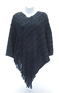 TASSEL DROP KNIT PONCHO - 300 G